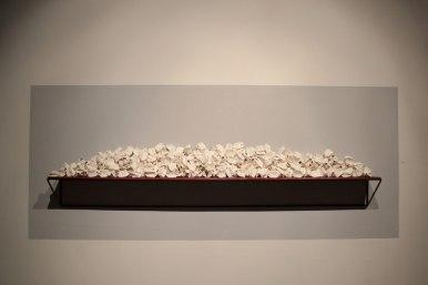 Ceramic, wood, steel, 2' x 8' x 1', 2015