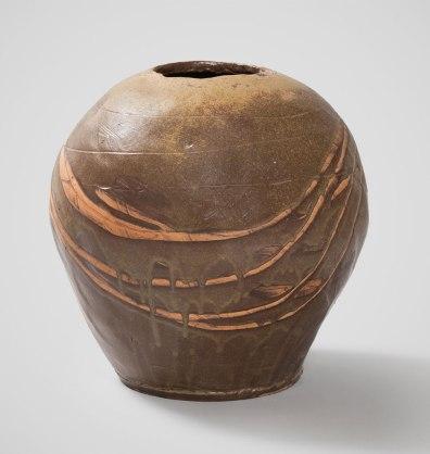 "11.8""w x 25""h x 11.8""d (inch), Stoneware clay, ash glazes, wood fired cone 8, 2013"