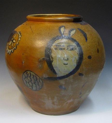 """12""""w x 19.2""""h x 12""""d (inch), Stoneware clay, glazes, salt & wood fired cone 10, 2014"""
