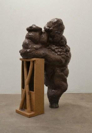 "Hold Still, 2013, Glazed Earthenware, 50""x45"""