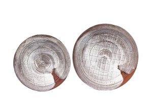 """Sand Blasted Porcelain on Terra Cotta, 12"""" x 24"""" x 1"""""""