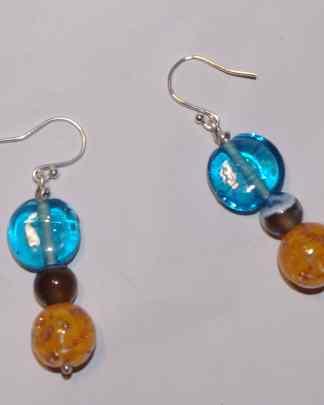 Boucles d'oreilles verre / pierres