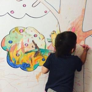 раскраска на стену, арт терапия, творческое развитие детей, развитие креативности, дизайн детской, украшение детской
