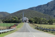Take a right on your way back to Oudsthoorn and the small town opens out into a postcard setting. The road takes you past the church and then you're en route to Karusa Wine Estate.