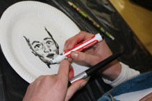 Sarah Rose de Villiers needs two pens to outline and shade her next portrait. IMAGE: Chelsea Haith
