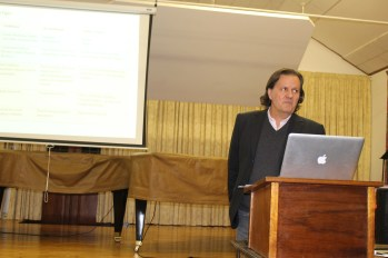 Tiago De Oliveria Pinto makes great eye contact with the audience throughout his presentation.