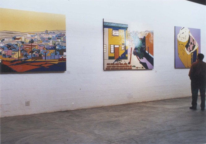 Naidoo's paintings on exhibit in the Durban Gallery. Source: Riason Naidoo