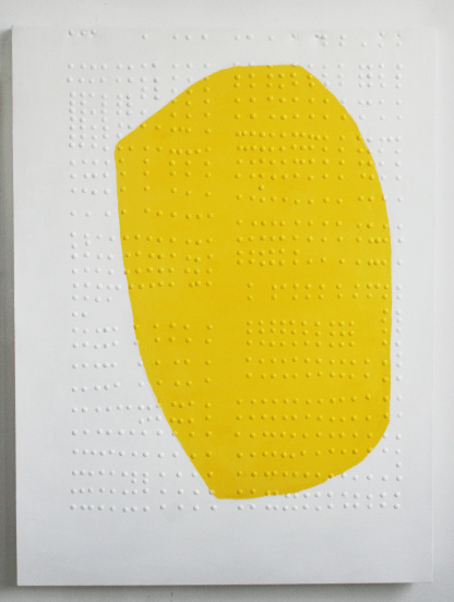 F-007.2017, Subject-Vii-yellow, mixed media on canvas, 122x91cm, private collection, Mexico