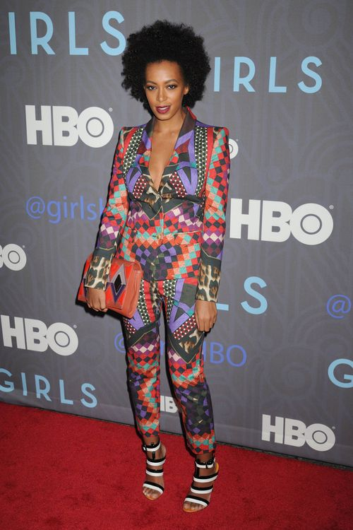 "Solange Knowles arrives for the Season Premiere of HBO's ""GIRLS"" in NYC"
