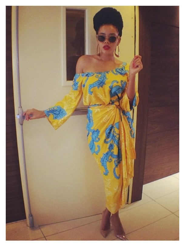 Angela-Simmons-is-in-Nigeria-She-posed-recently-wearing-a-dress-by-Frockit-Rockit-and-Louboutin-heels