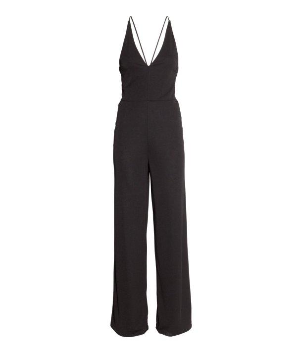 hm black jumpsuit