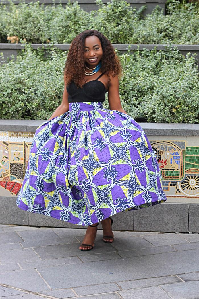 ankara outfit maxi skirt