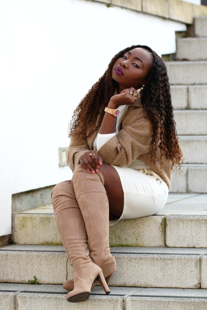 taupe of the worls sammy over the knee boots a