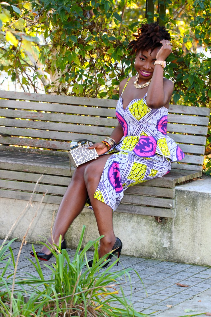 ankara house peplum dress louboutins a