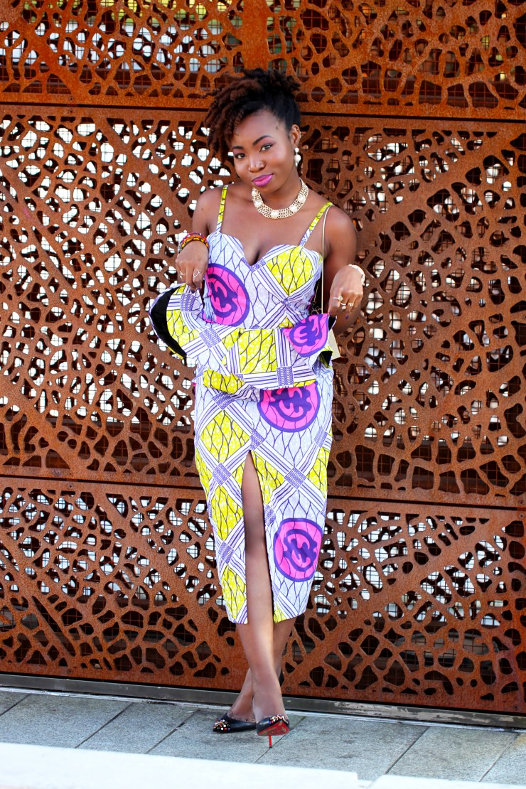 ankara peplum dress a