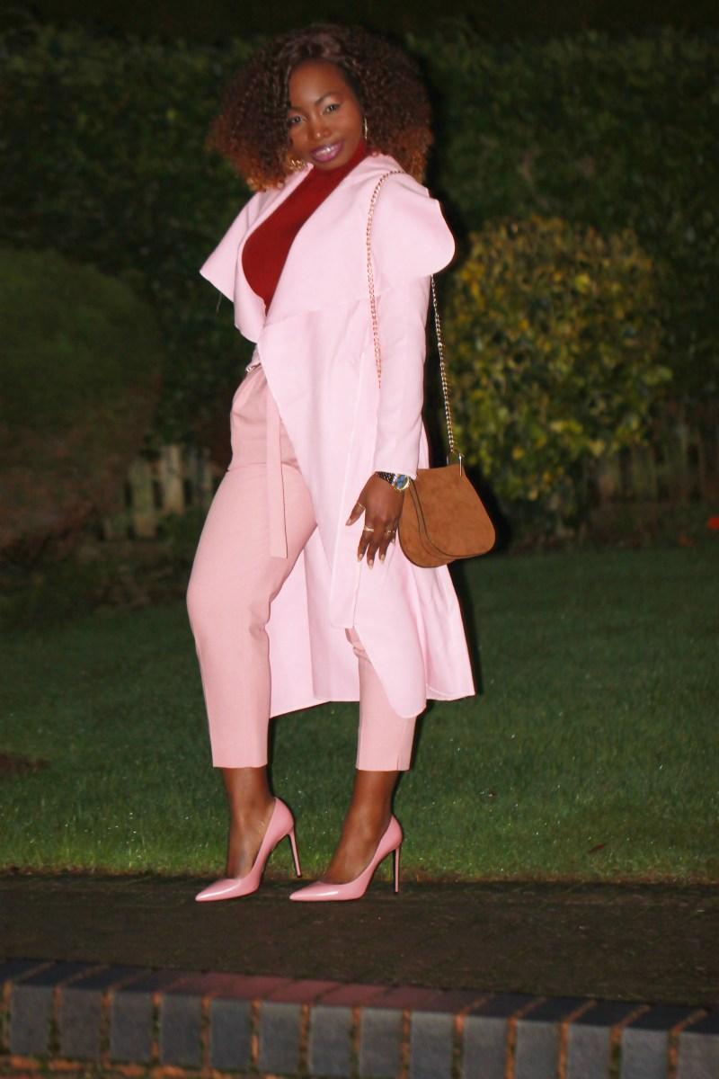 dusty pink coat 46a