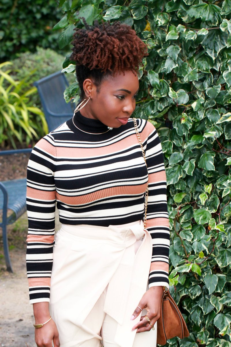 lavish alice blush trousers miss selfridge stripe jumper a