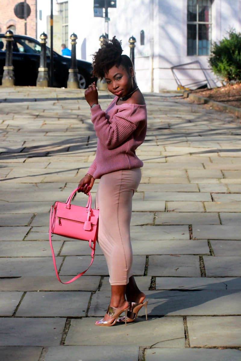 mauve outfit natural hair ootd a