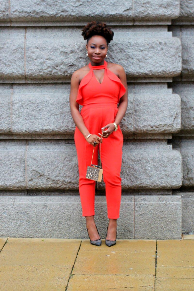 orange one piece office mesh heels a