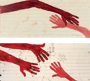 Louise Bourgeois. 'TEN AM IS WHEN YOU COME TO ME' (detail) 2006