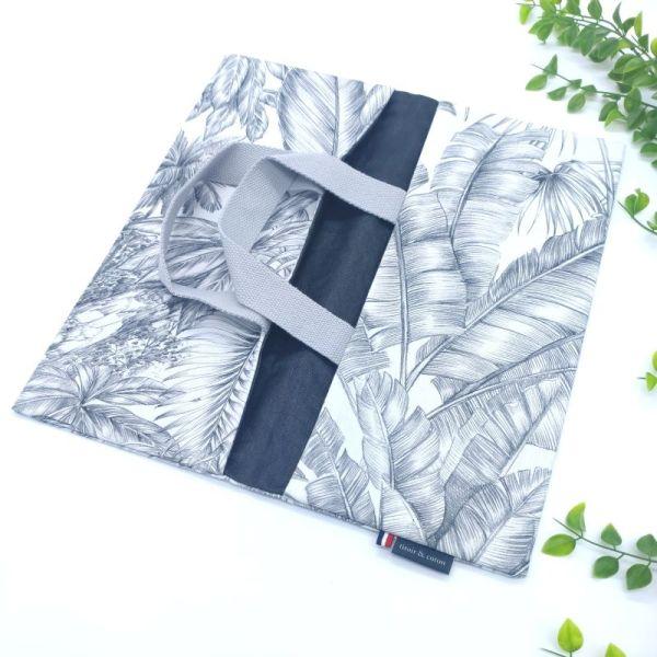 sac à tarte vide intérieur tissu lin enduit noir