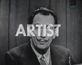 Salvador Dali on What's My Line, CBS, January 27, 1957.  © Fremantle Media.