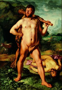 Hendrick Goltzius, Hercules and Cacus, Portrait Historié of Johan Colterman, monogrammed and dated 1613 (oil on canvas, 207 x 142.5 cm). Haarlem, Frans Halsmuseum