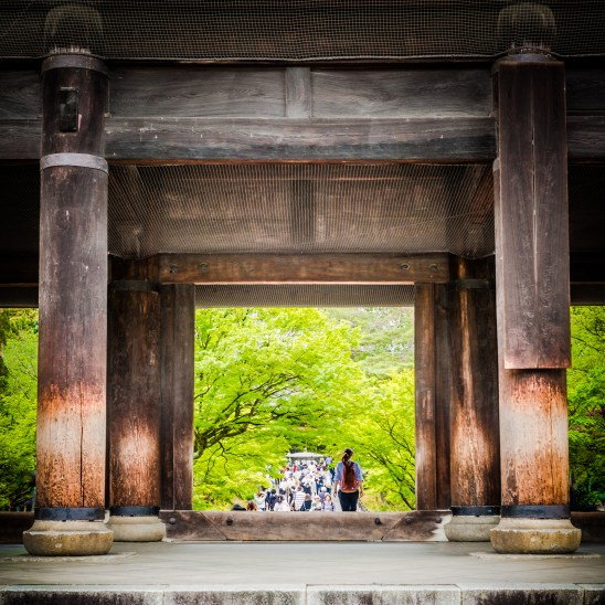 The massive Sanmon entrance gate,Nanzen-ji Temple, Kyoto