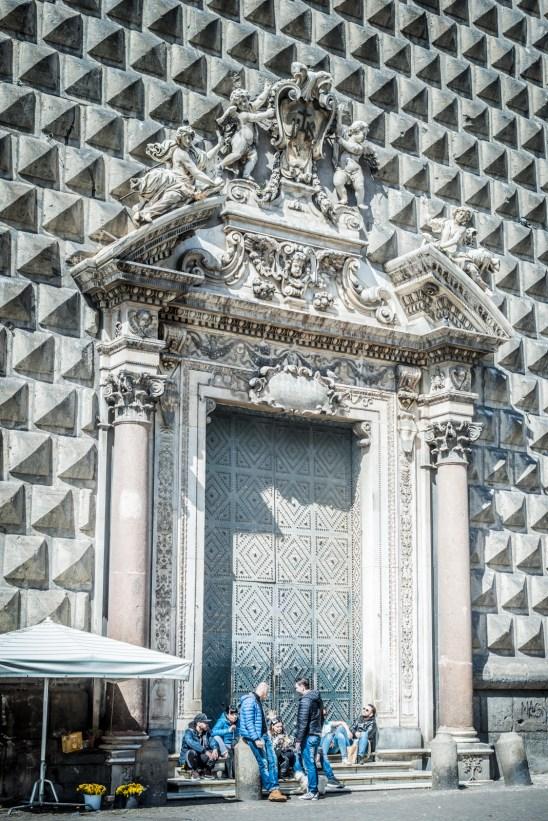 The diamond facade of New Jesus Church