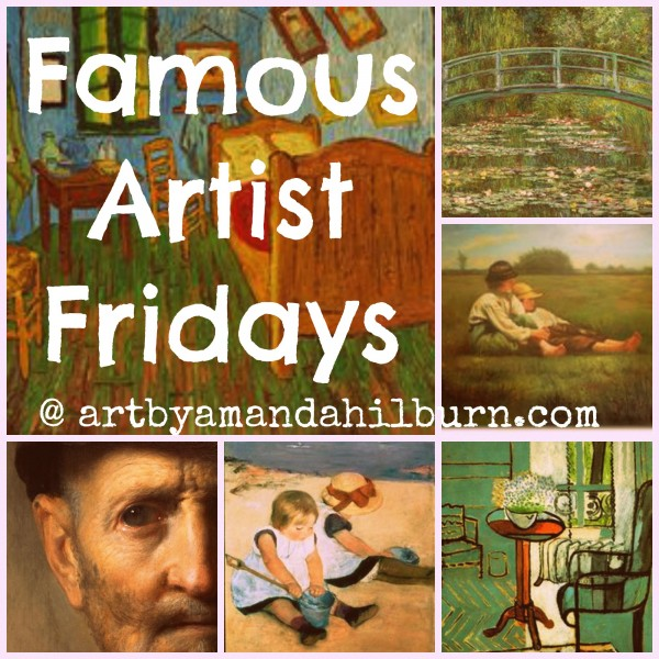 Famous Artist Fridays | The Little Bluebird Gallery, Art by Amanda Hilburn