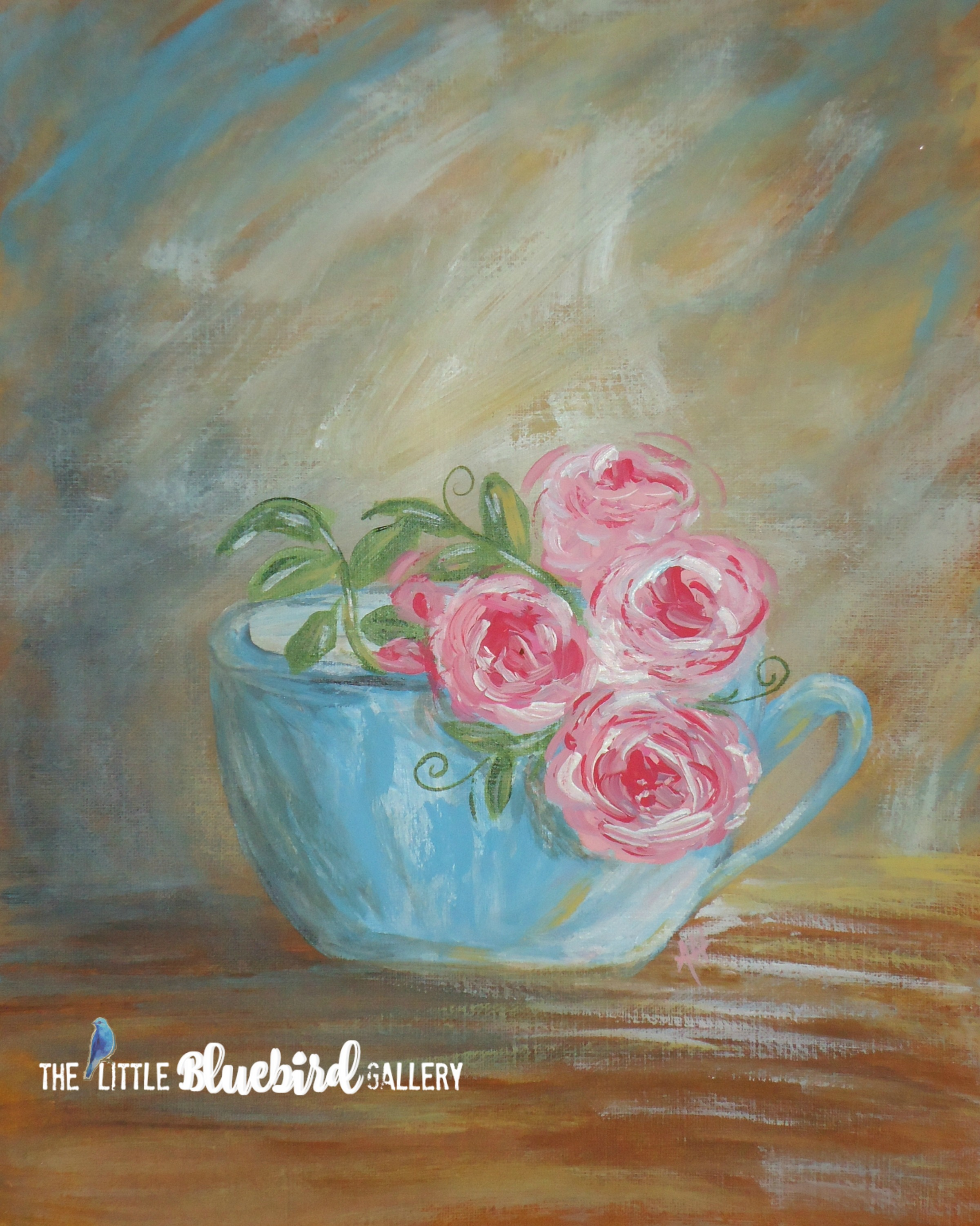 English Roses and Tea Print