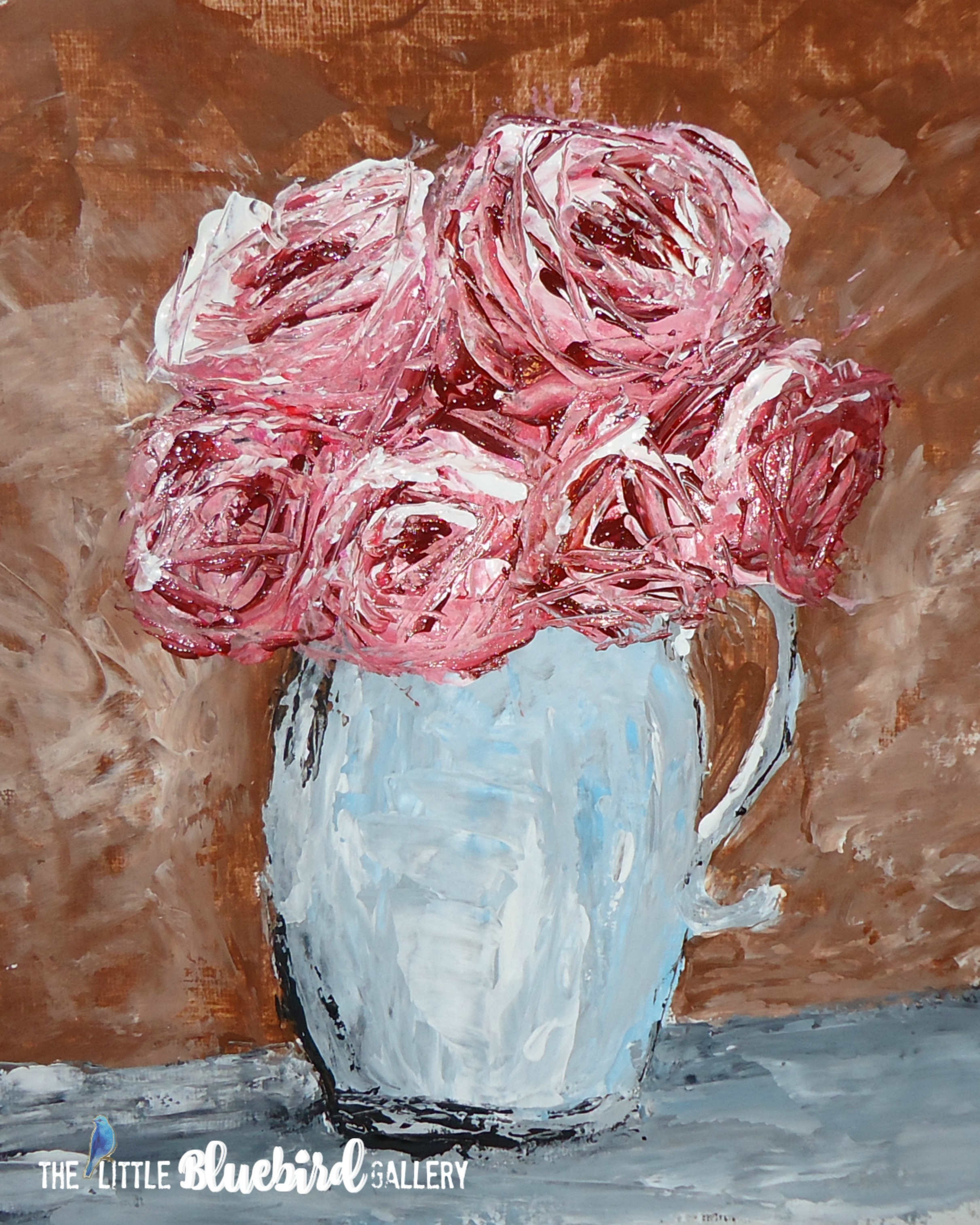 Pitcher of Roses   SOLD