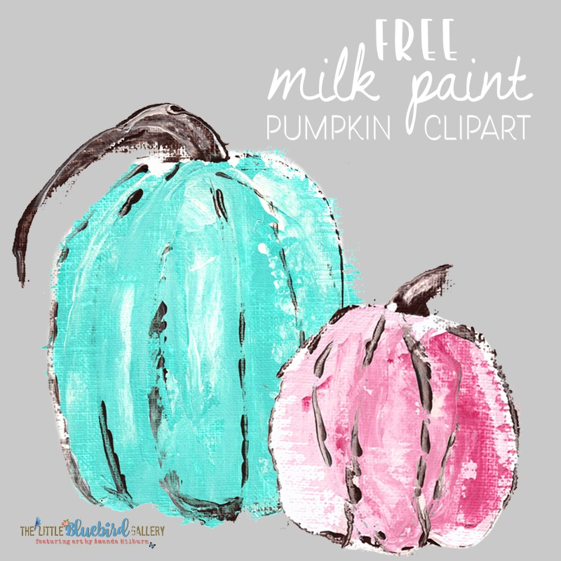 Free Milk Paint Pumpkin Clip Art