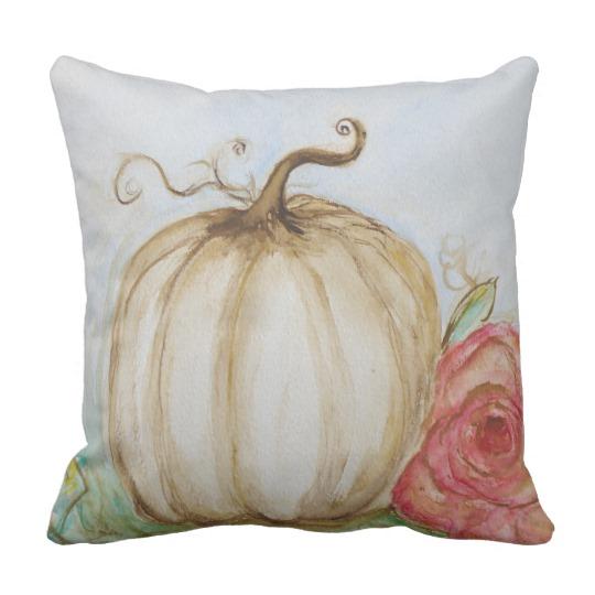 Shabby Chic Pumpkin Pillow