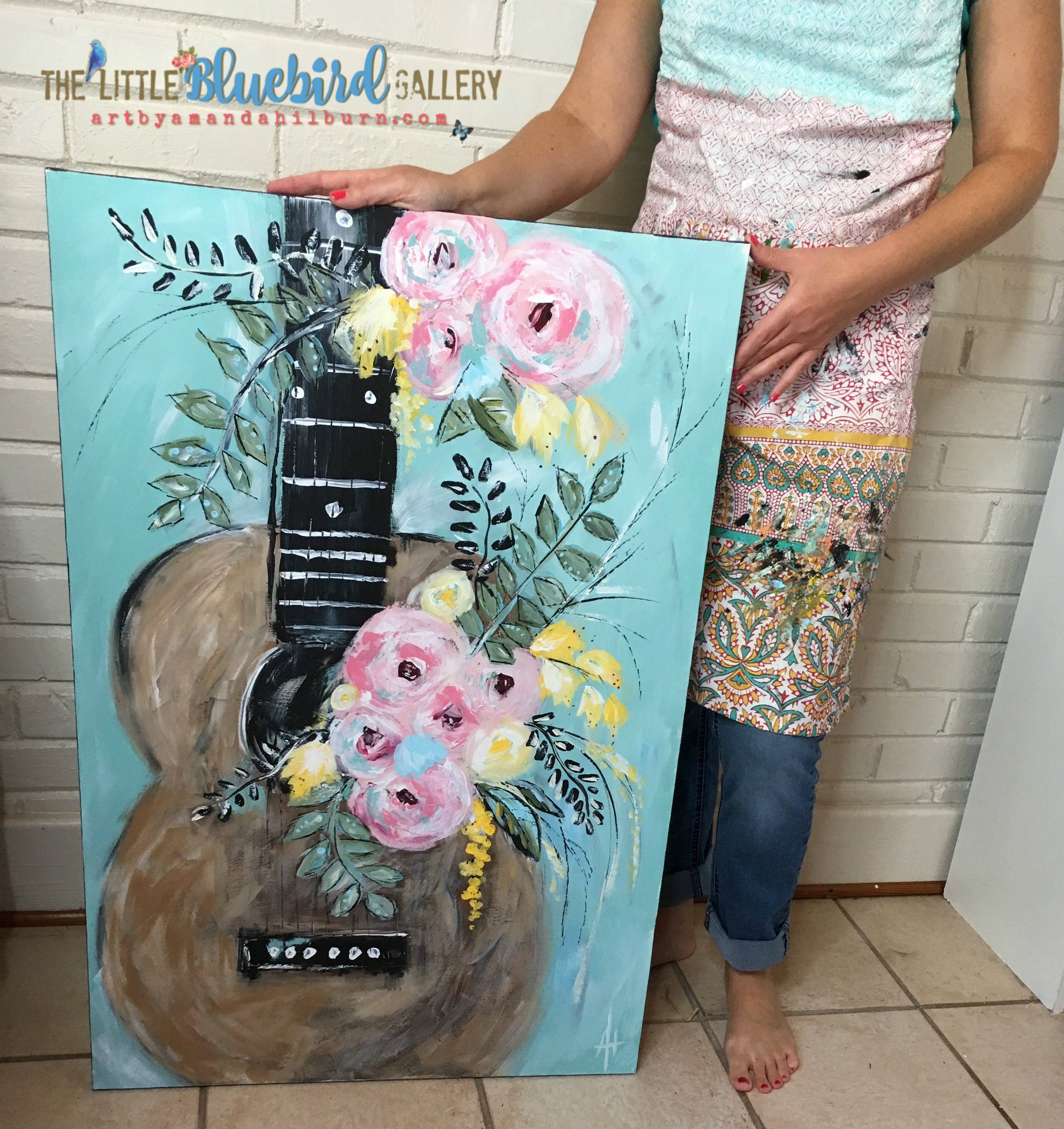 Whimsical Guitar by Amanda Hilburn