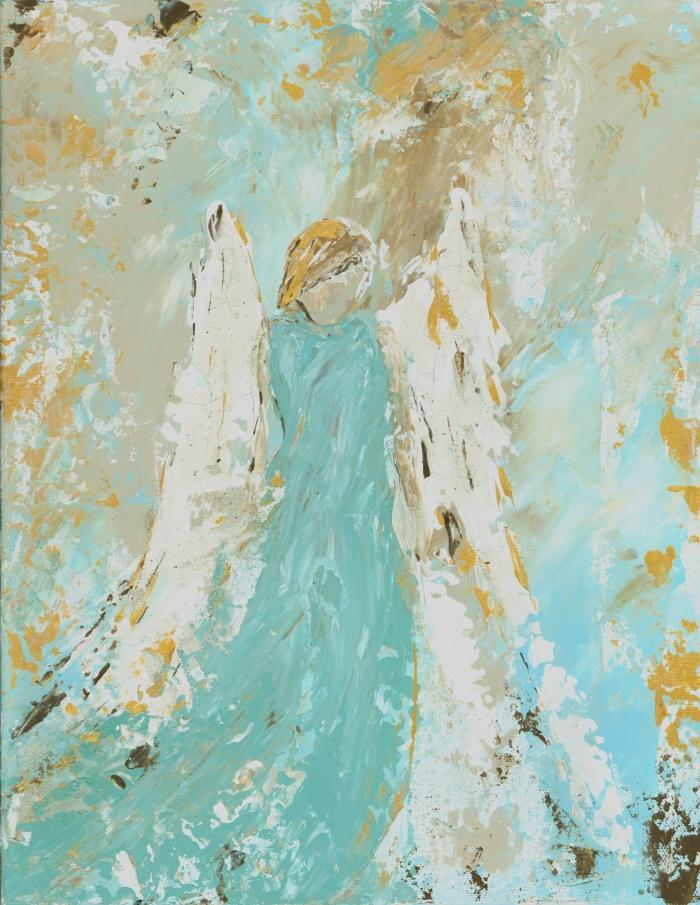Aqua Angel Print