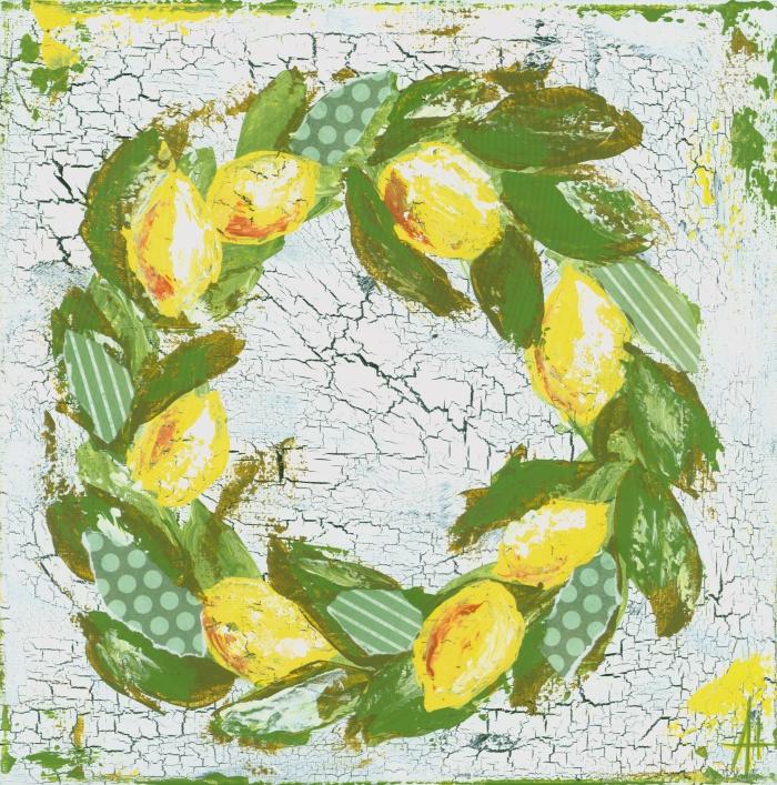 Lemon Wreath Print