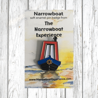 Narrowboat Enamel Pin