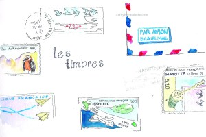 Stamps Les timbres