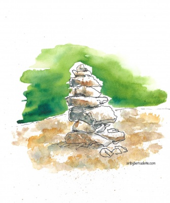 Cairn at Cobble Lookout