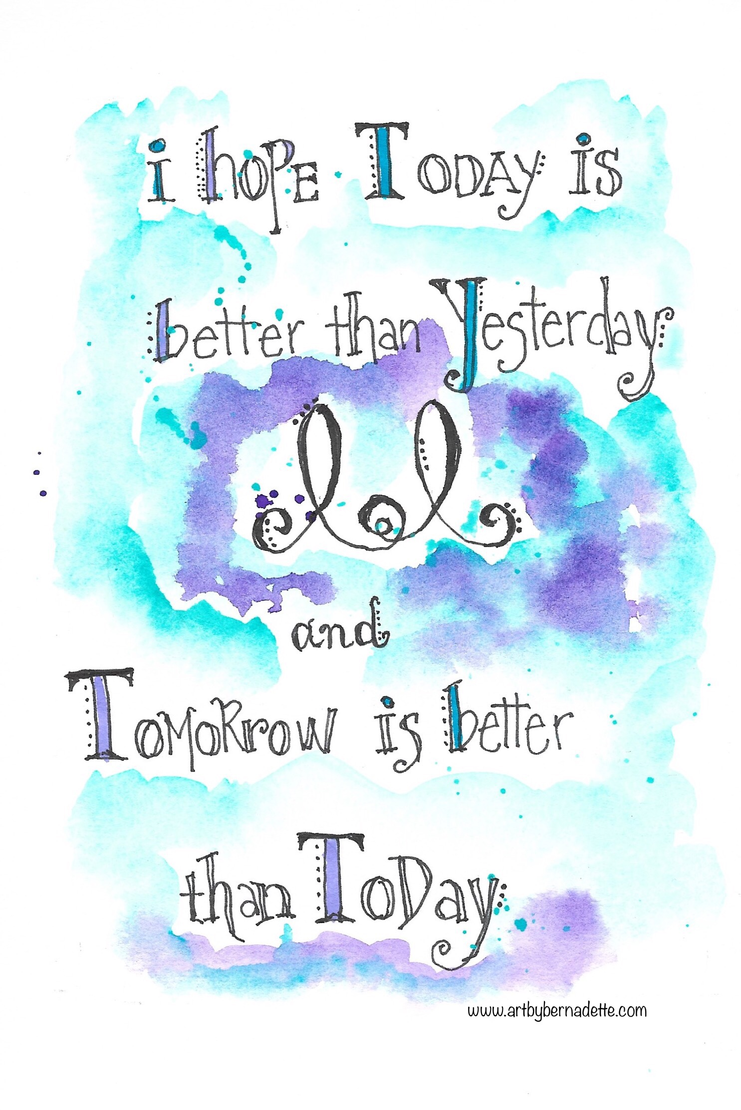 I hope today is...