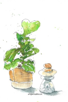 Fig tree and objet d'art