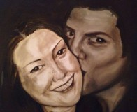 Maria and Fred, Commision, acrylic on canvas