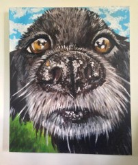 Nosey Bob Acylic on Canvas SOLD