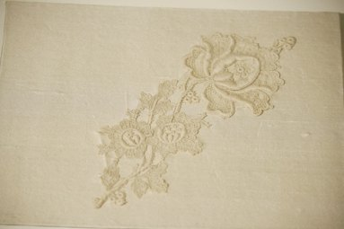 OOAK Wedding Book, antique lace, rose motif
