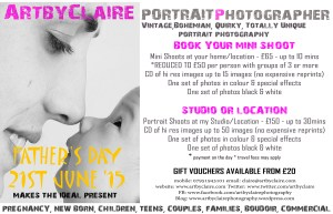 Book Your Shoot in advance for the perfect gift...