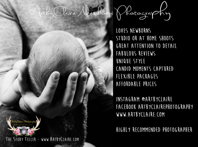 Newborn Photography by ArtbyClaire Photography - choose either Studio or at Home