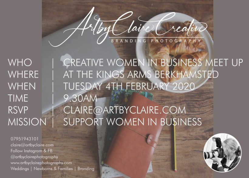 ArtbyClaire Creative Branding, women in business meet up, The Kings Arms Berkhamsted