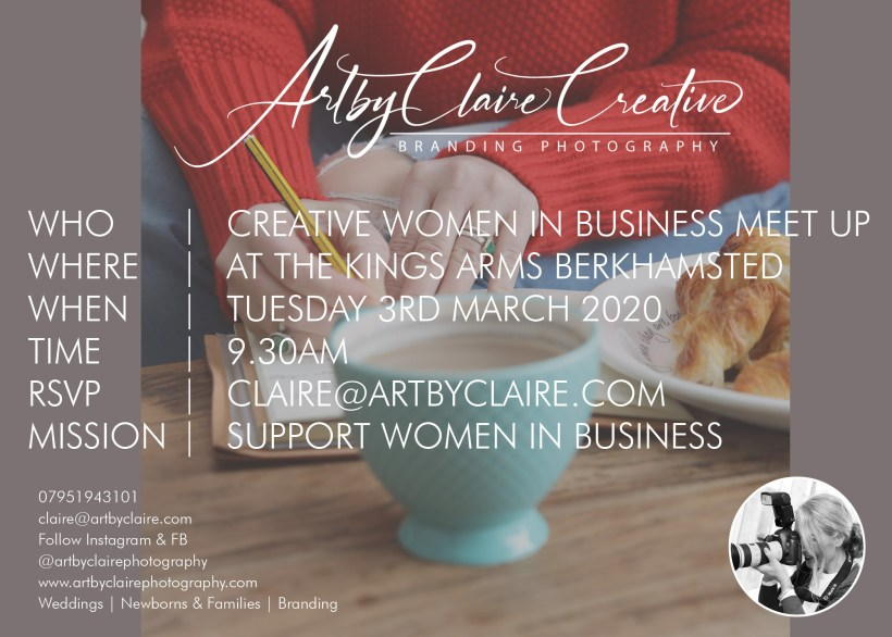ArtbyClaire Creative Branding and women in business meet up, The Kings Arms Berkhamsted