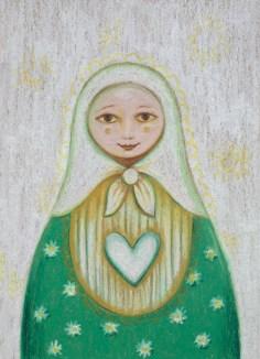 Matryoshka Anna with heart 13 18
